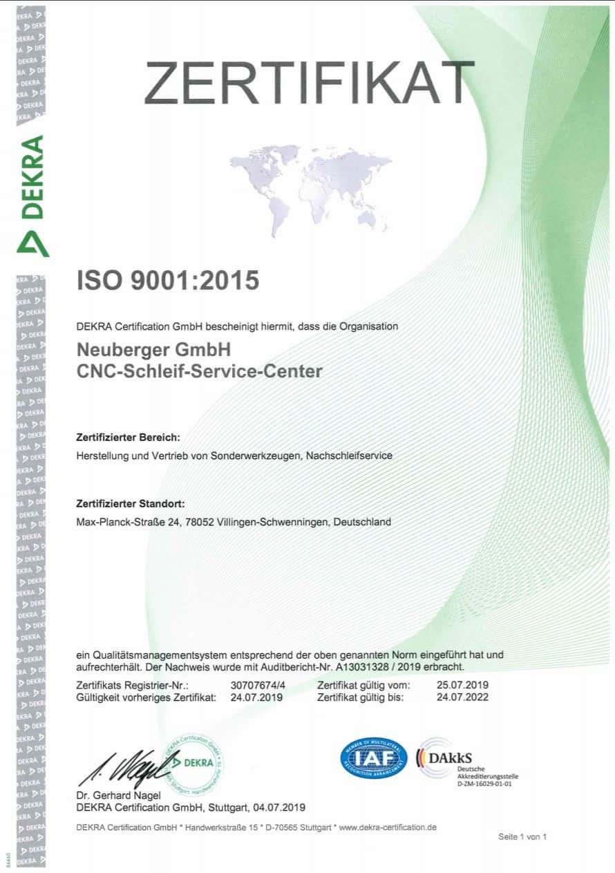 Neuberger ISO 9001 2015